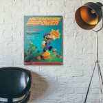 Nintendo Power Magazine 1st Issue Cover July 1988 Wooden Poster