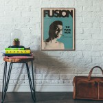 Fusion Punk Magazine #37 Cover from 1970 Wooden Poster