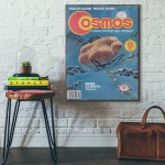 Cosmos Magazine Cover November 1977 Wooden Poster