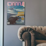 Omni Magazine Cover November1989 Wooden Poster