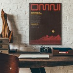 Omni Magazine Cover February 1979 Wooden Poster