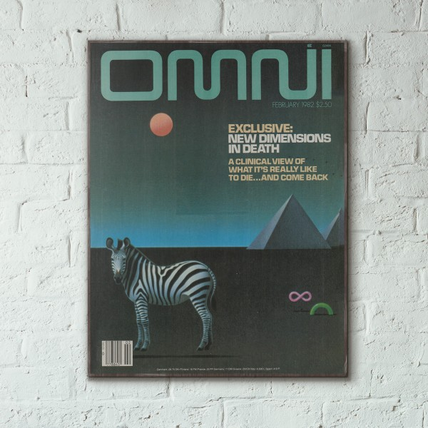 Omni Magazine Cover February 1982 Wooden Poster