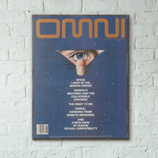 Omni Magazine Cover August 1981 Wooden Poster