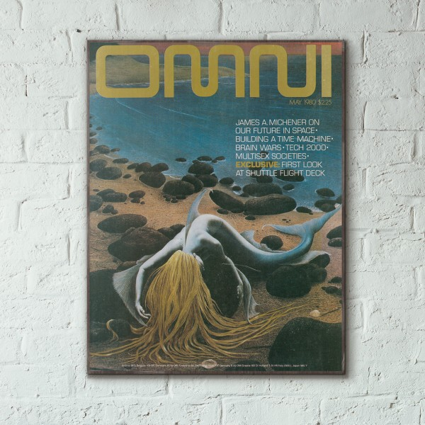 Omni Magazine Cover May 1980 Wooden Poster