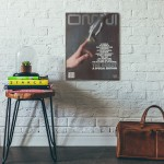 Omni Magazine Cover March 1983 Wooden Poster
