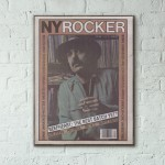 New York Rocker Magazine Cover #34 1980 Wooden Poster