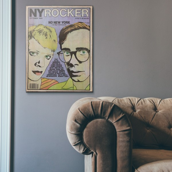 New York Rocker Magazine Cover #32 1982 Wooden Poster