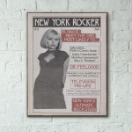 New York Rocker Magazine Cover #3 1976 Wooden Poster