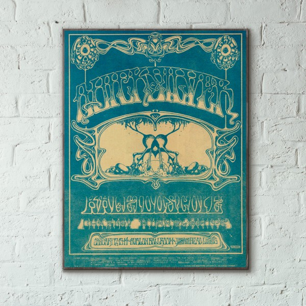 Family Dog presents Quicksilver Messenger Service Avalon Ballroom 1968 Concert Wooden Poster