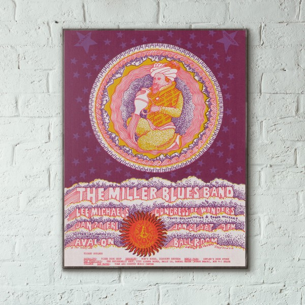 Family Dog presents The Miller Blues Band Avalon Ballroom 1967 Concert Wooden Poster