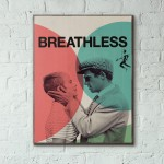 Jean-Luc Godard's Breathless 1960 UK Wooden Poster