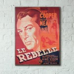 The Fountainhead 1949 French Wooden Poster