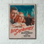 John Fords' They Were Expendable 1945 French Wooden Poster