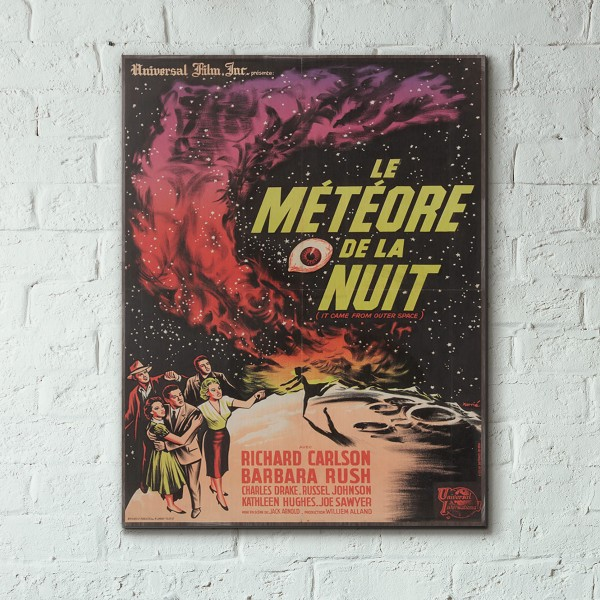 It Came from Outer Space 1963 French Wooden Poster