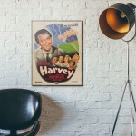 Harvey 1950 French Wooden Poster