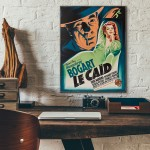 The Big Shot 1942 French Wooden Poster