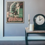 Godzilla, King of the Monsters! 1956 French Wood Sign