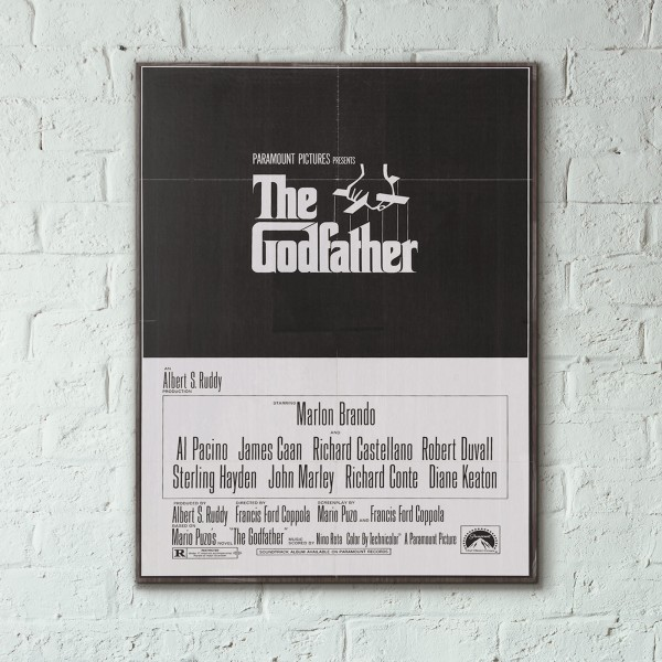 The Godfather 1972 Wooden Poster