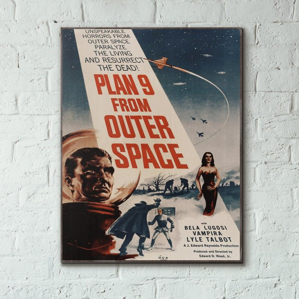 Ed Woods' Plan 9 from Outer Space 1959 Wood Sign