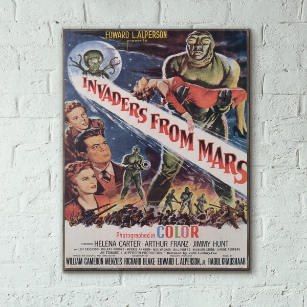 Invaders From Mars 1953 Wood Sign