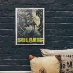 Tarkovsky's Solaris 1972 Italian Wood Sign