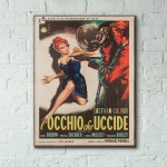 Peeping Tom 1960 Italian Wooden Poster