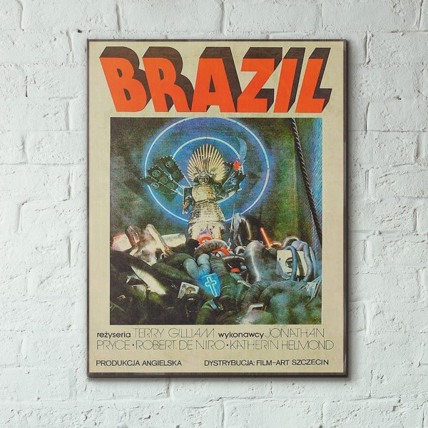 Terry Gilliam's Brazil 1985 Polish Wood Sign