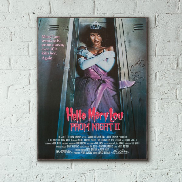 Hello Mary Lou: Prom Night II Slasher Film 1987 Wooden Poster
