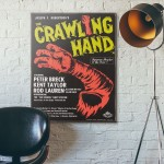 The Crawiling Hand Exploitation Monster Movie 1992 Wooden Poster