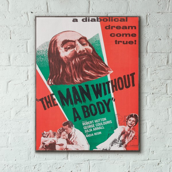 The Man Without a Body GR Monster Movie 1992 Wooden Poster