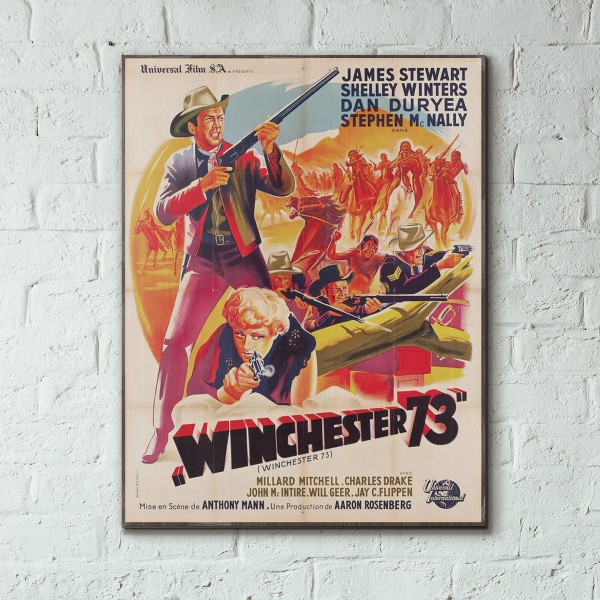 Anthony Mann's Winchester '73 1950 French Wooden Poster