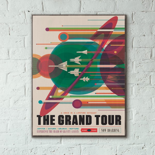 NASA Visions of the Future - The Grand Tour Wooden Poster