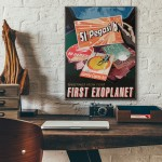 NASA Visions of the Future - First Exoplanet Wooden Poster