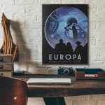 NASA Visions of the Future - Europa Wooden Poster