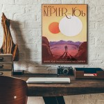 NASA Visions of the Future - Kepler 16b Wooden Poster