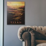 NASA Visions of the Future - Titan Wooden Poster