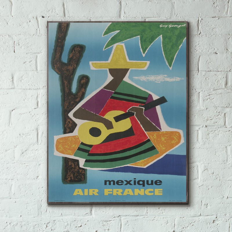 Air France - Mexico 1963 Wooden Travel Poster | Woodenposters.com