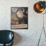 Santa Claus American War Propaganda 1942 Wood Sign