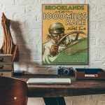 Brooklands 1932 1000 Mile Race Wooden Poster
