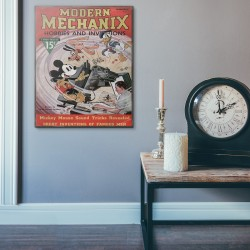 Modern Mechanix Magazine Cover from 1937 Wood Sign