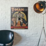 T-Man Issue #1 1951 Wood Sign